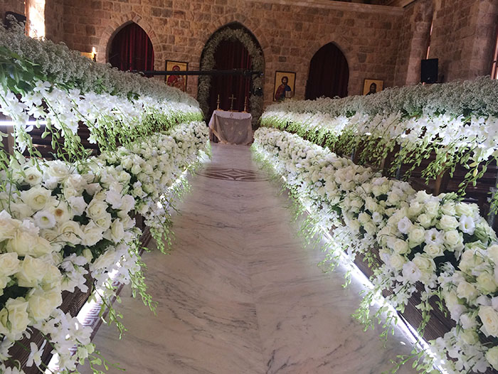 Church weddings floral designs bekaa lebanon by sawaya flowers weddings planning bekaa junglespirit Image collections