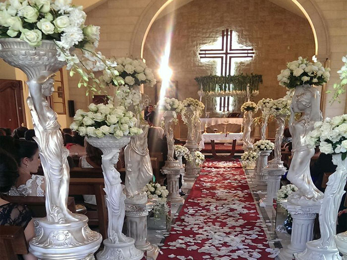 Church Weddings Floral Designs Bekaa Lebanon By Sawaya Flowers