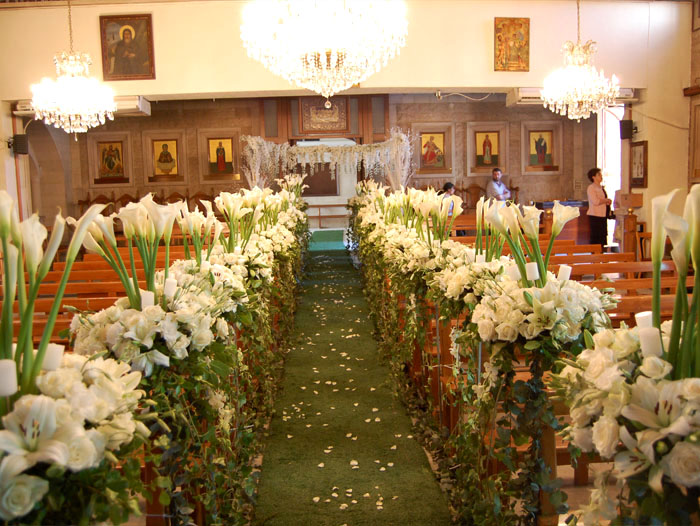 Church weddings flowers bekaa lebanon by sawaya flowers weddings flowers lebanon junglespirit Image collections